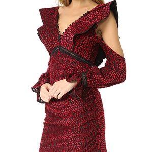 72af804b6d0bc Self-Portrait Dresses   Selfportrait V Neck Frill Velvet Mini Dress ...